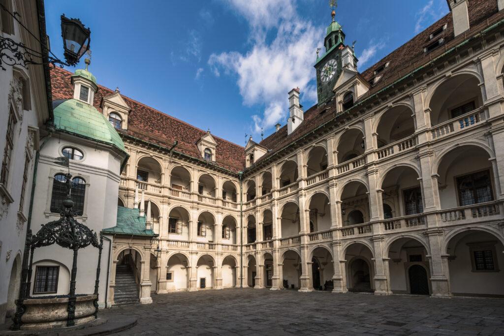 Arkadenhof des Landhaus Graz, Österreich UNESCO