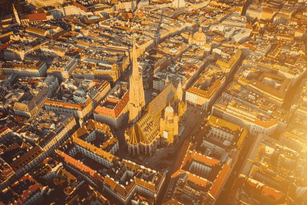 Wien Innenstadt Blick von Oben